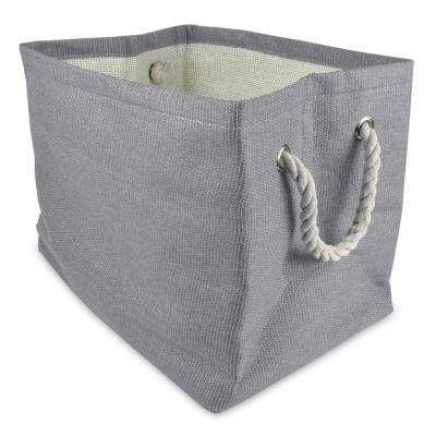 Rectangle Woven Paper Solid Decorative Bin