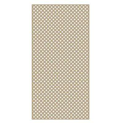 0.2 in. x 48 in. x 8 ft. Wicker Vinyl Privacy Diamond Lattice