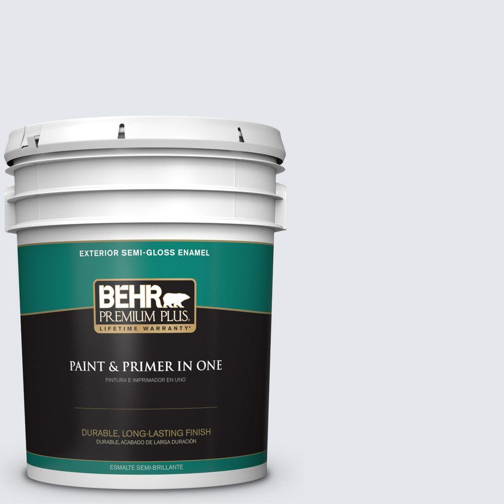 BEHR Premium Plus 5-gal. #610A-1 Lilac Murmur Semi-Gloss Enamel Exterior Paint