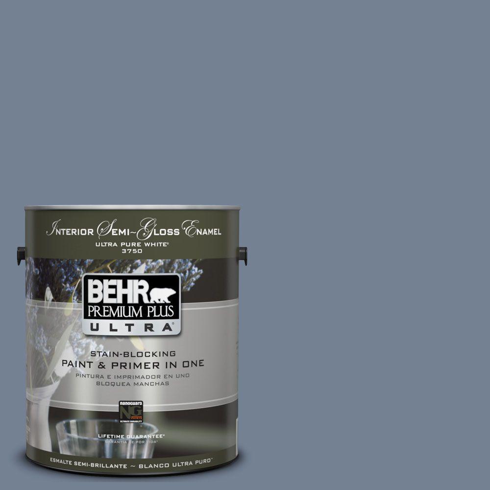 BEHR Premium Plus Ultra 1-gal. #UL240-5 Tranquil Pond Interior Semi-Gloss Enamel Paint