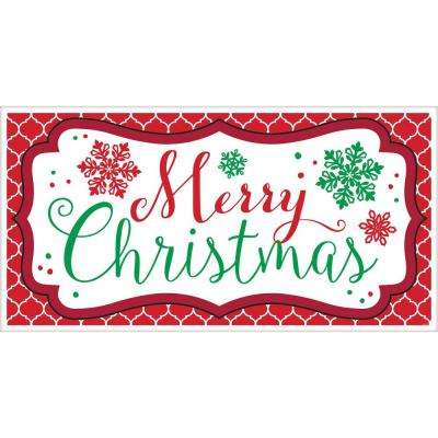 33.5 in. x 65 in. Merry Christmas Plastic Banner (5-Pack)