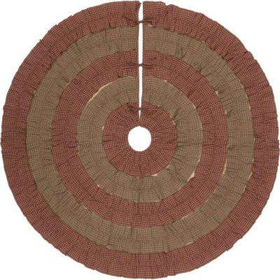 60 in. Sequoia Burgundy Red Rustic Christmas Decor Tree Skirt