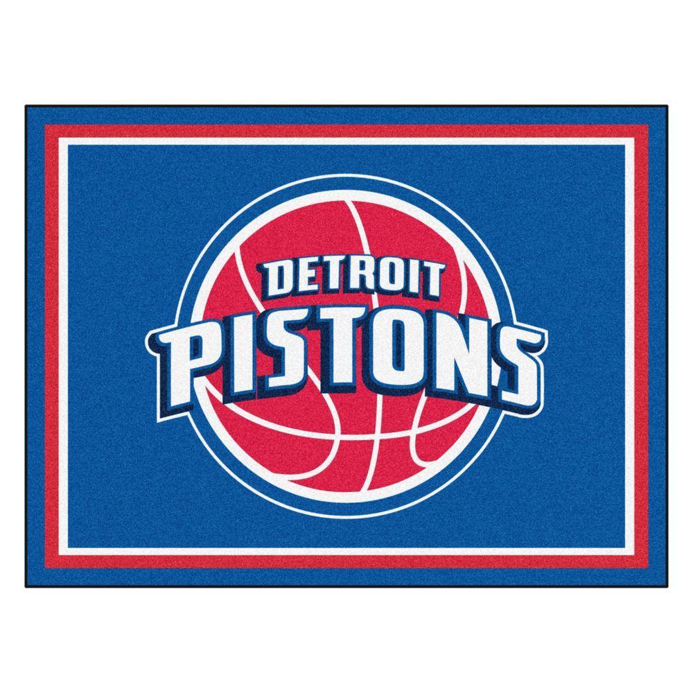 NBA Detroit Pistons Blue 8 ft. x 10 ft. Indoor Area Rug