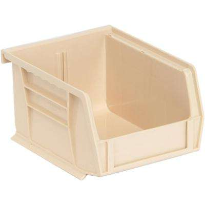 1.2 Gal Ultra Series Stack and Hang Storage Bin in Ivory