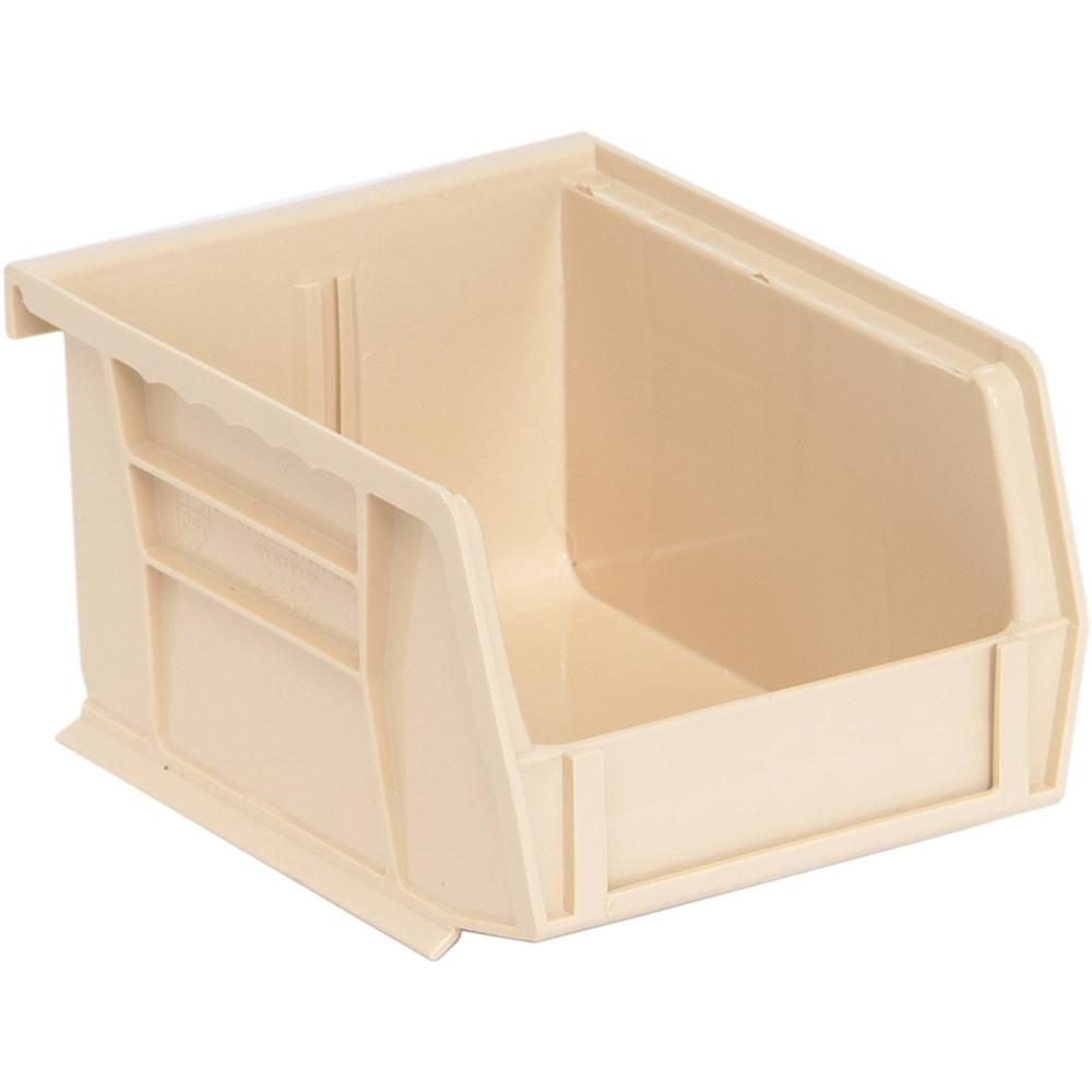 Ultra Series Stack and Hang 1.2 Gal. Storage Bin in Ivory