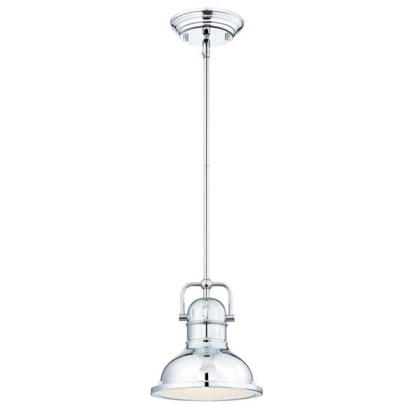 Boswell 1-Light Chrome Pendant with LED Bulb