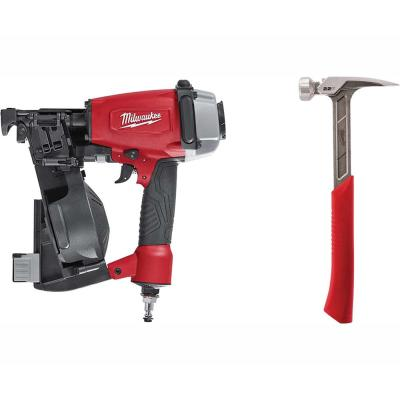 1-3/4 in. Coil Roofing Nailer with 22 oz. Milled Face Framing Hammer