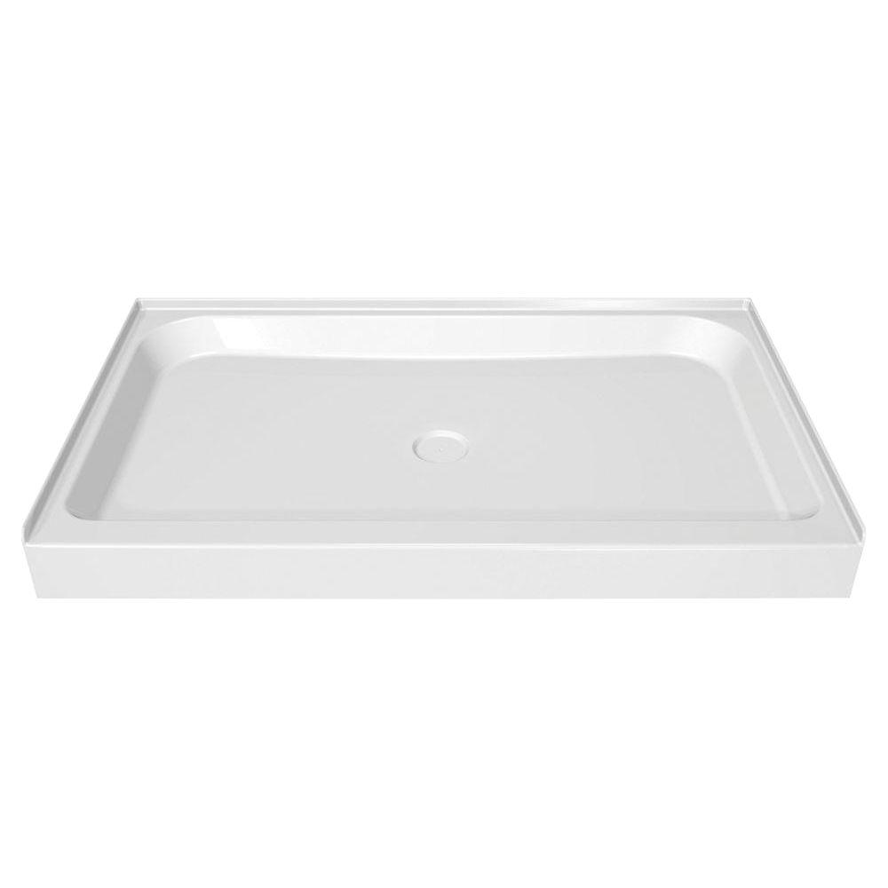 MAAX 60 in. x 36 in. Single Threshold Shower Base in White