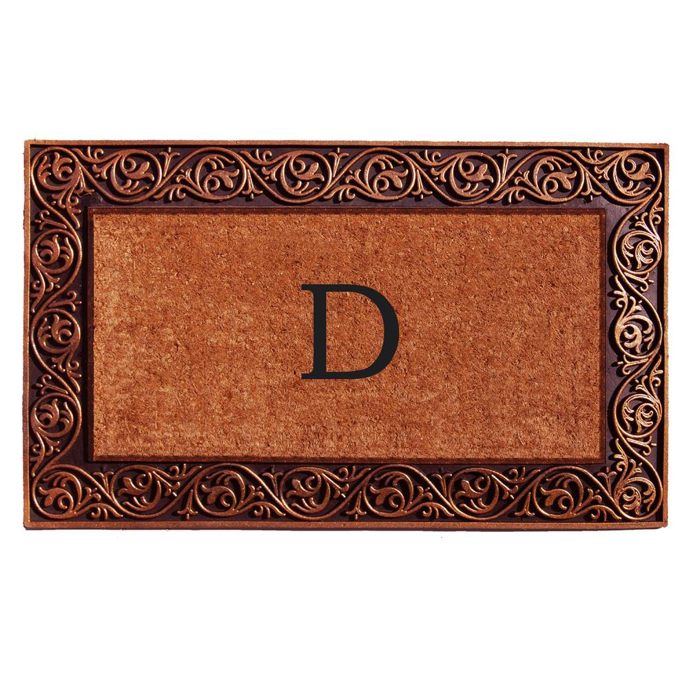 Prestige Bronze Door Mat 18 in. x 30 in. Monogram D