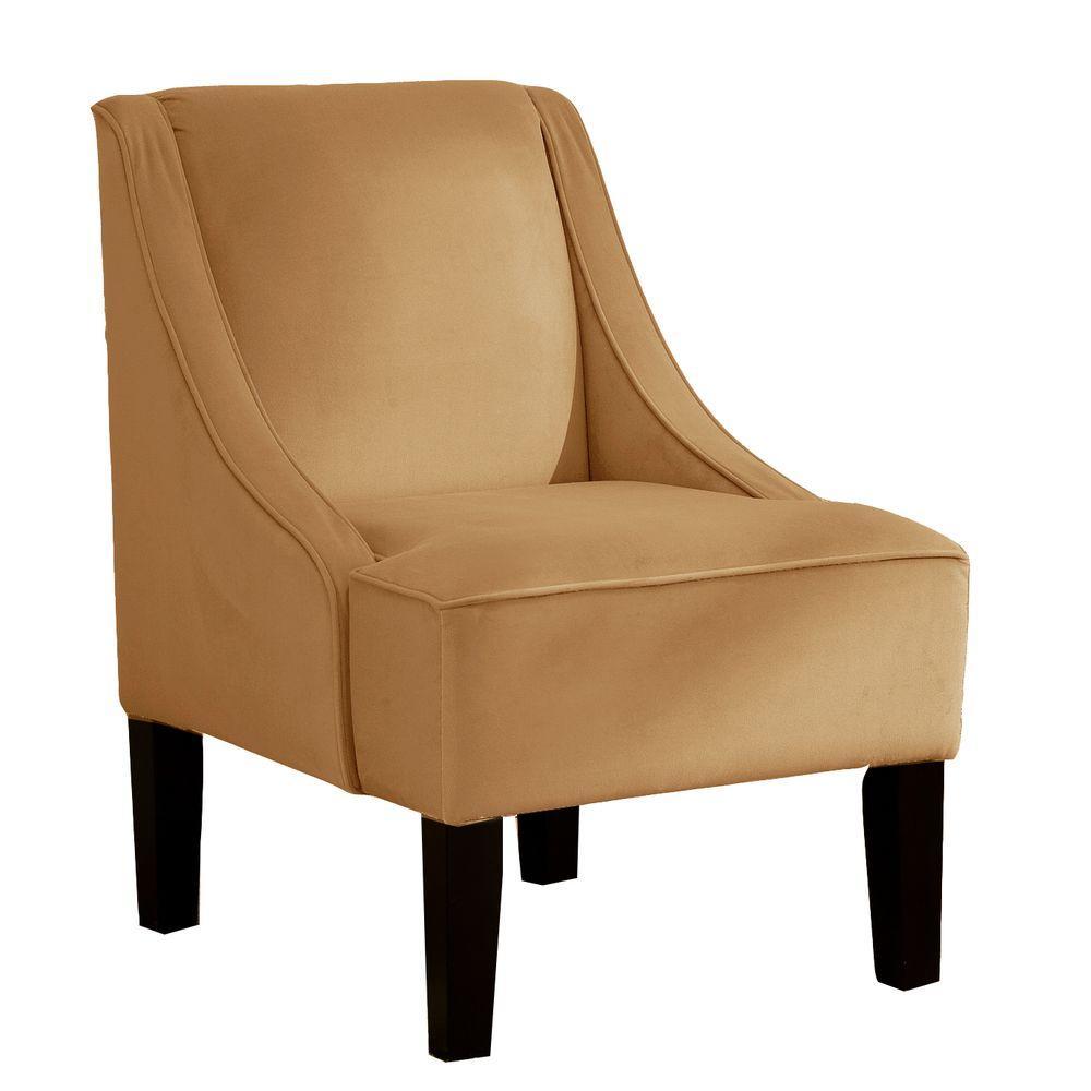 Home Decorators Collection Palisade Honey Velvet Arm Chair