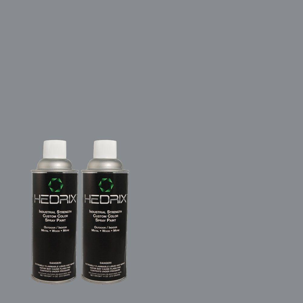 Hedrix 11 oz. Match of 570F-5 Skipper Semi-Gloss Custom Spray Paint (2-Pack)