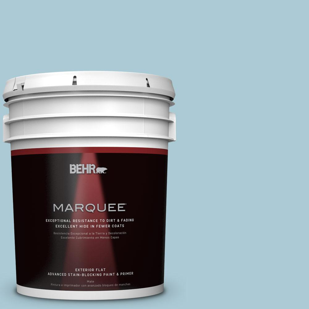 BEHR MARQUEE 5-gal. #S480-2 Sea Wind Flat Exterior Paint