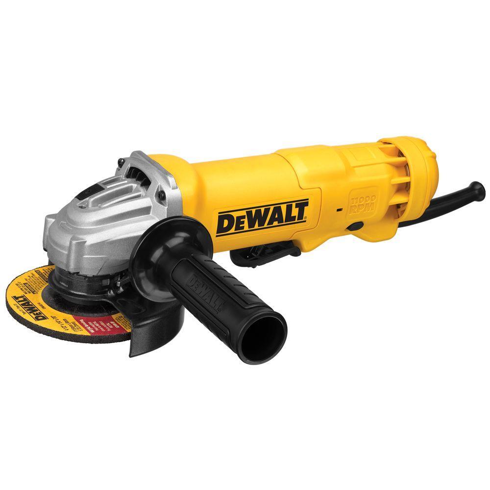 DEWALT 11 Amp 4-1/2 in. Angle Grinder-DWE402W - The Home Depot