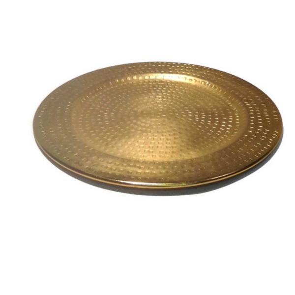 Gold Color Charger Plate, 13'' x 13'' 1''H