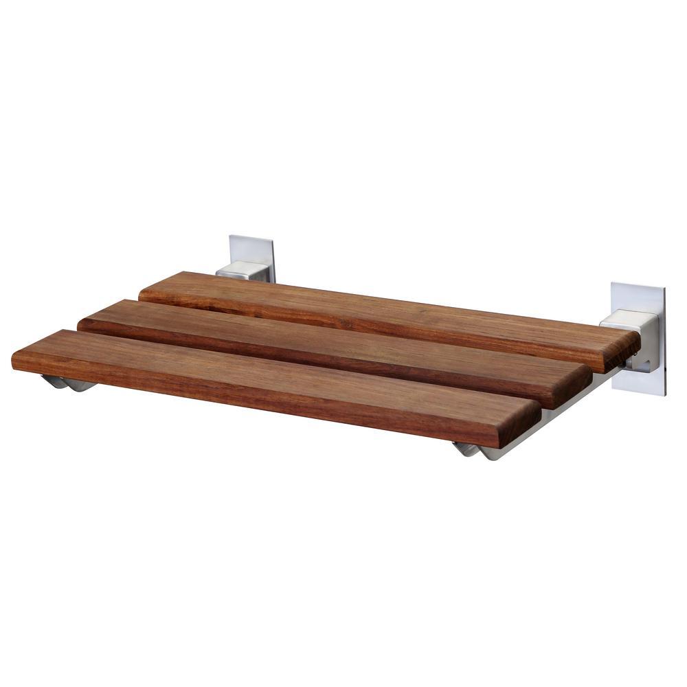 Rochen 12.4 in. Teak Wall Mounted Shower Seat