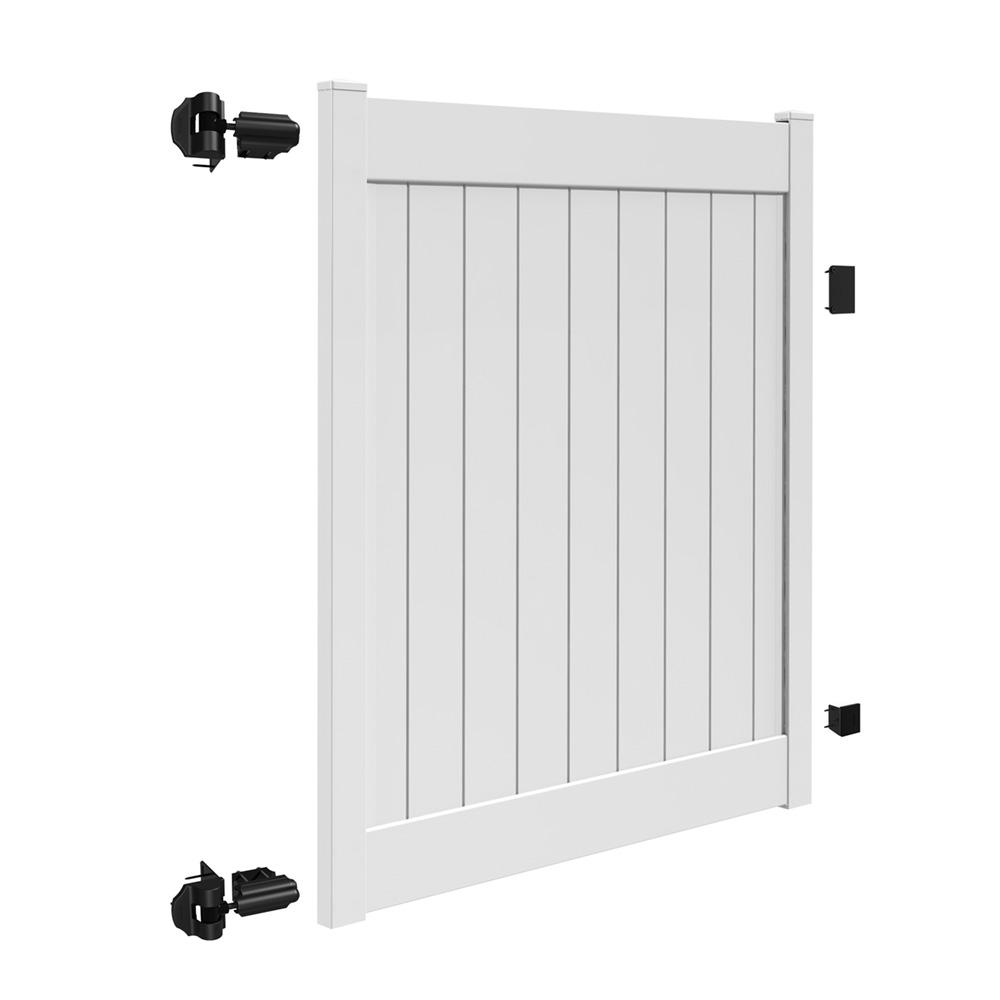 H White Vinyl Un Assembled Fence