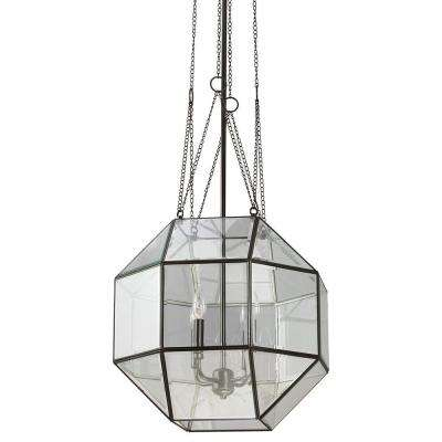 Lazlo Large 4-Light Heirloom Bronze Pendant with Clear Beveled Glass