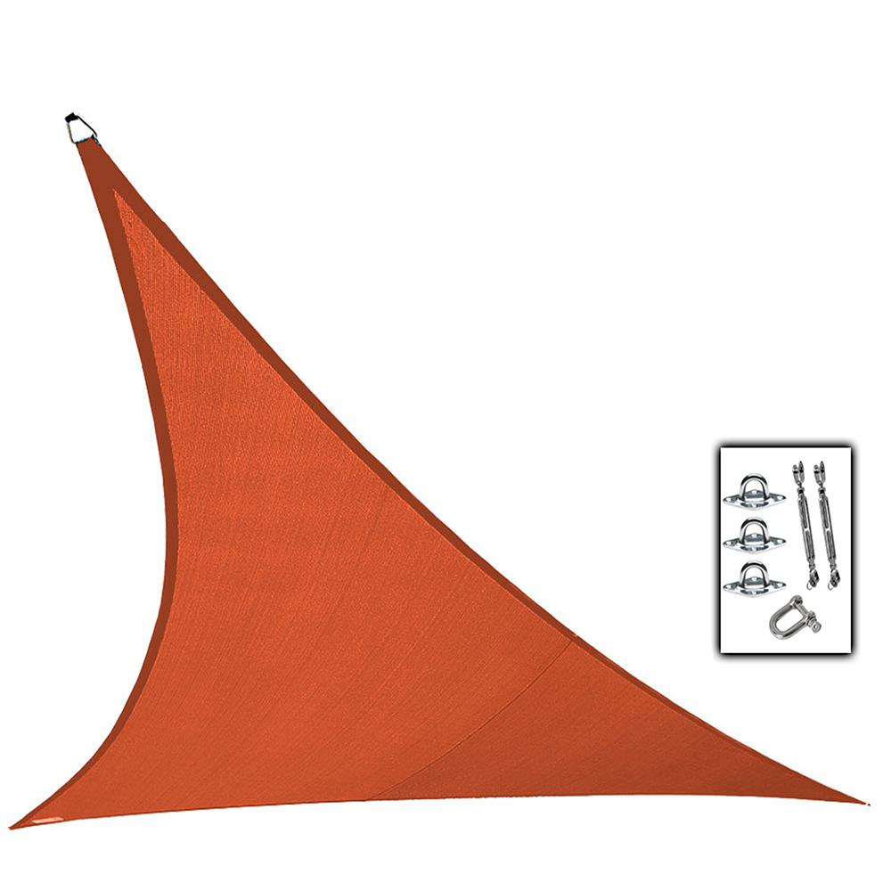 23 ft. Terracotta Triangle Ultra Shade Sail with Kit