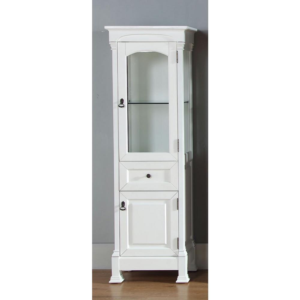 Brookfield 20.50 in. W x 16.25 in. D x 65 in. H Double Door Floor Cabinet in Cottage White