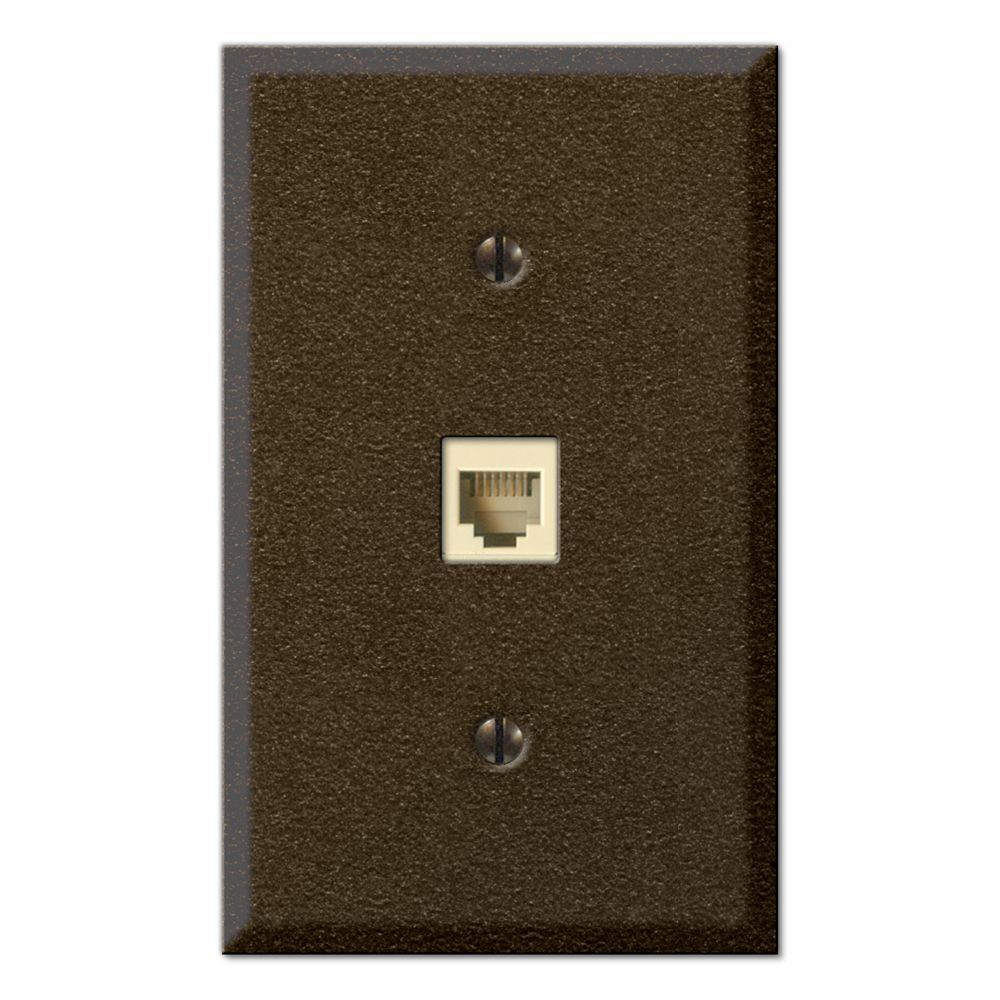 Creative Accents Steel 1 Phone Wall Plate - Bronze