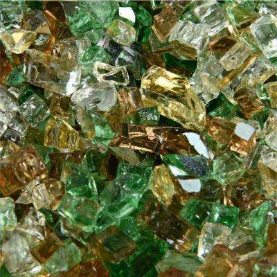 10 lbs. of Prairie Gold 1/4 in. Reflective Blended Fire Glass