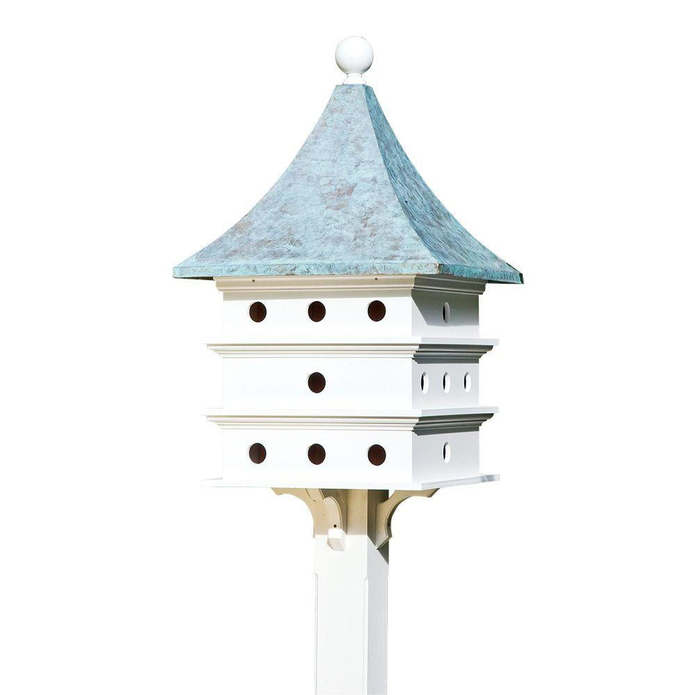Good Directions Lazy Hill Farm Designs Ultimate Martin Birdhouse with Blue Verde Copper Roof