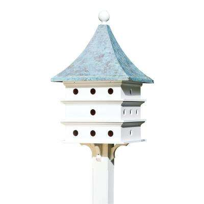 Lazy Hill Farm Designs Ultimate Martin Birdhouse with Blue Verde Copper Roof