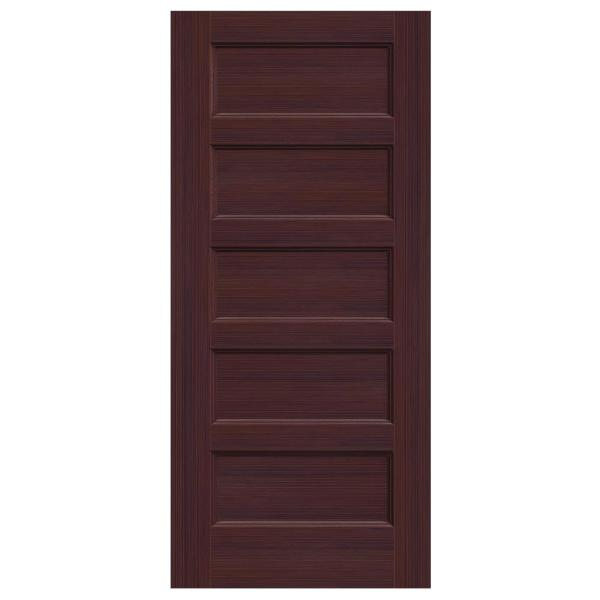36 in. x 80 in. Conmore Black Cherry Stain Smooth Solid Core Molded Composite Interior Door Slab