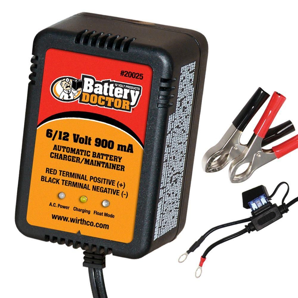 Battery Doctor 6/12 Volt Fully Automatic 900 mA Smart Charger