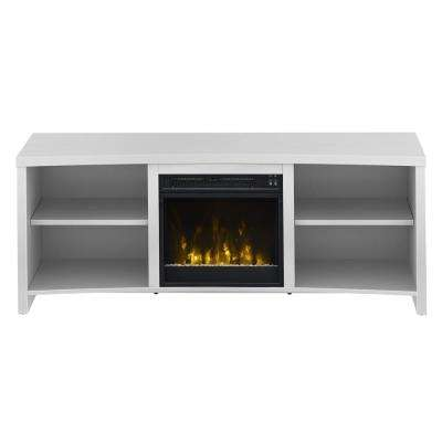 Shelter Cove 59.5 in. Media Console Electric Fireplace in White
