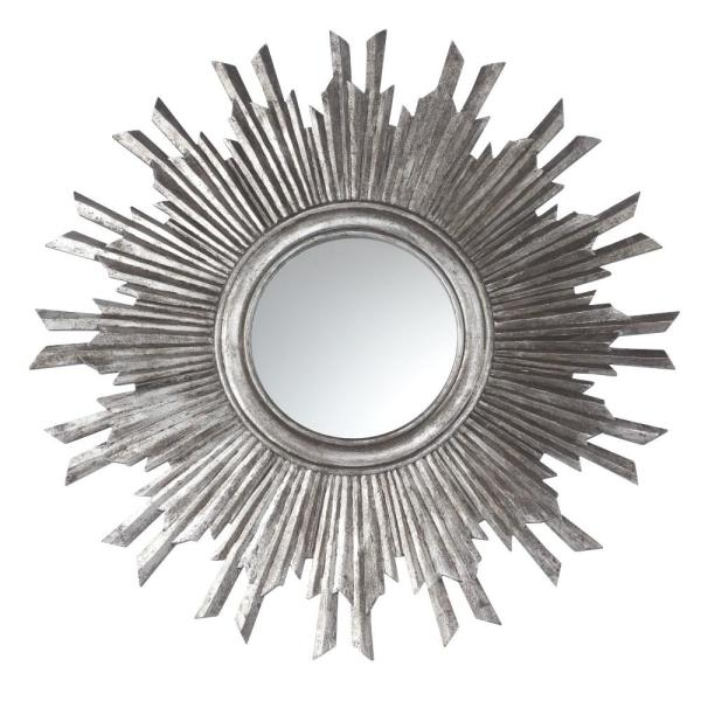 Medium Round Gold Contemporary Mirror (35.5 in. H x 2 in. W)