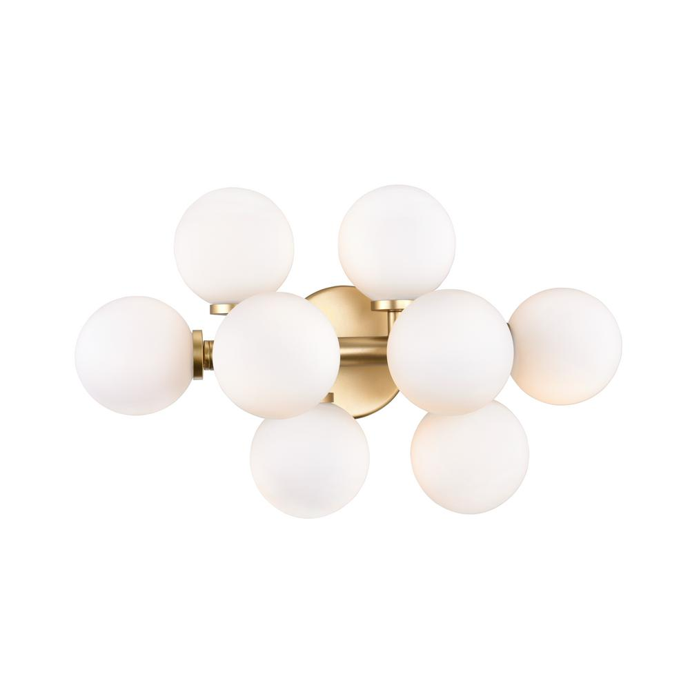 CWI Lighting Arya 8-Light Satin Gold Sconce