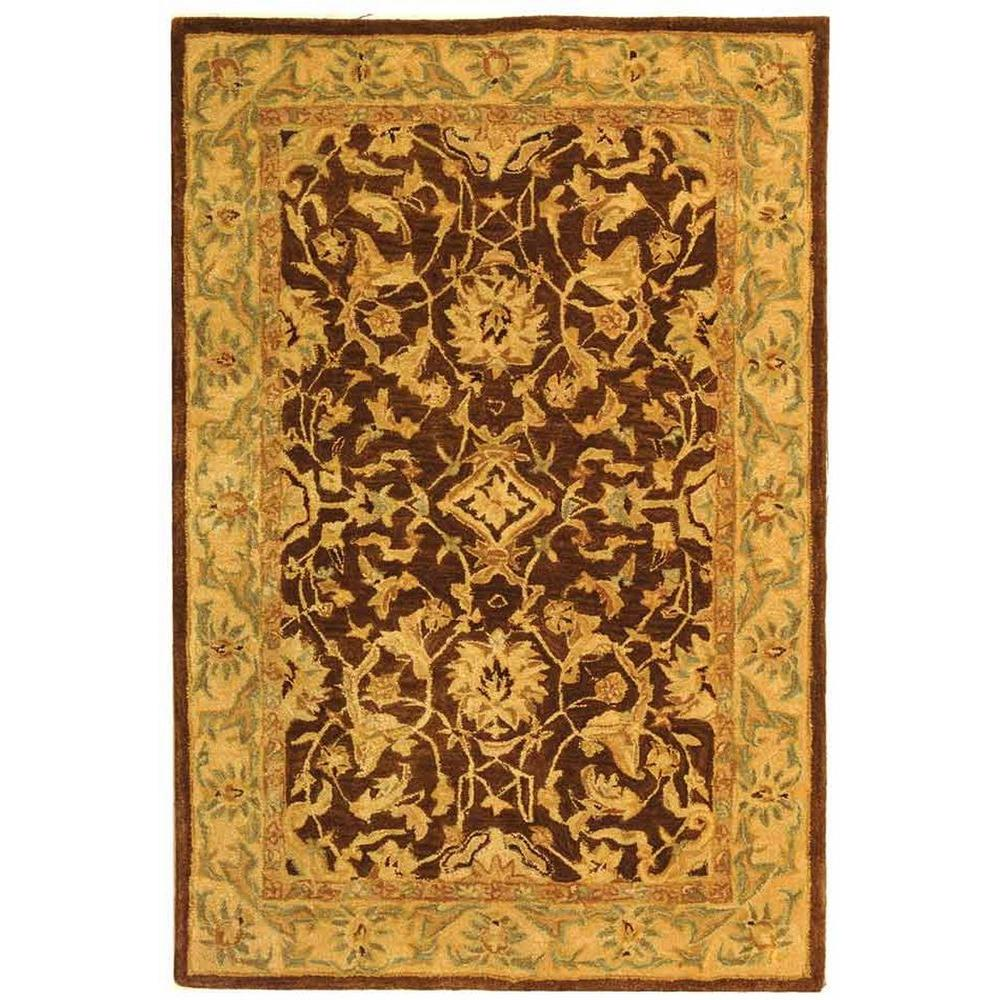 Anatolia Brown/Tan 4 ft. x 6 ft. Area Rug