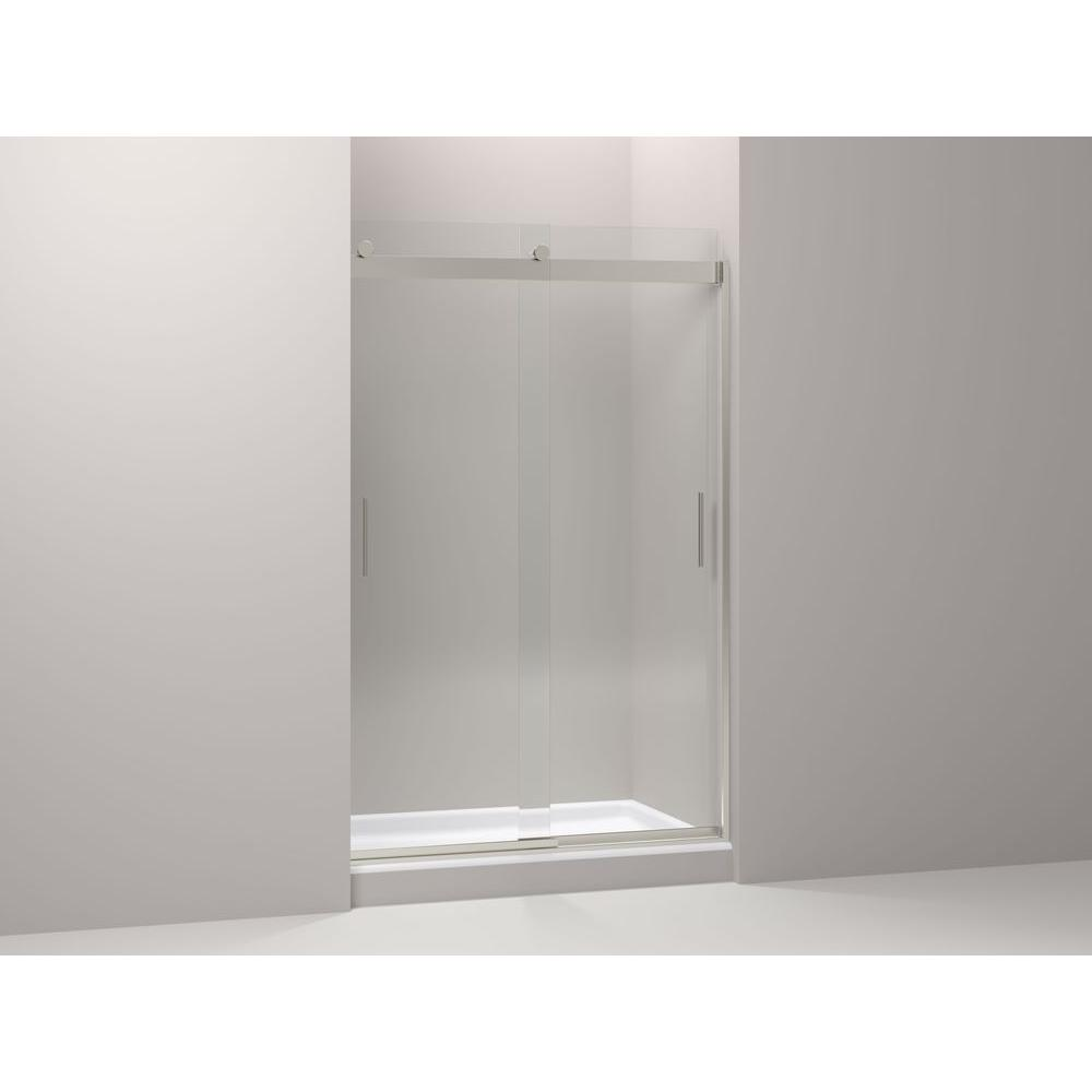 Levity 26 in. x 74 in. Shower Door in Nickel