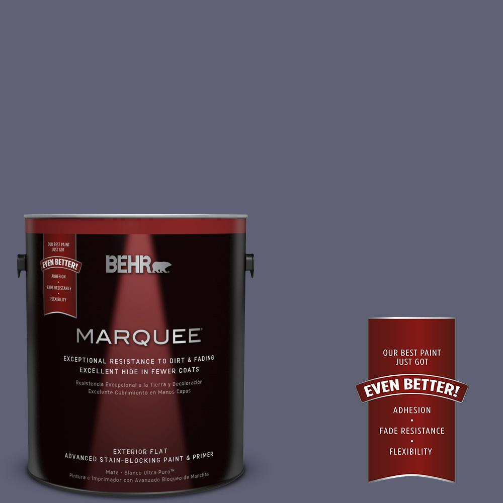 1-gal. #620F-6 Purple Orchid Flat Exterior Paint