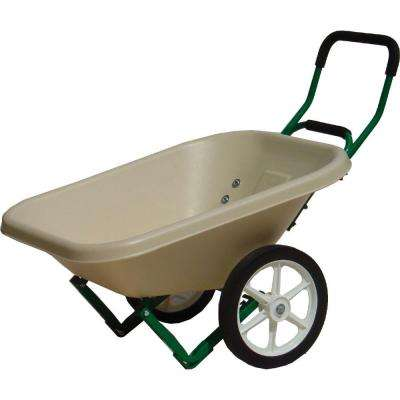 4 cu. ft. Beige Loadumper Wheelbarrow