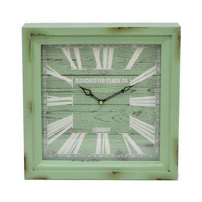 Green Metal Wall Clock