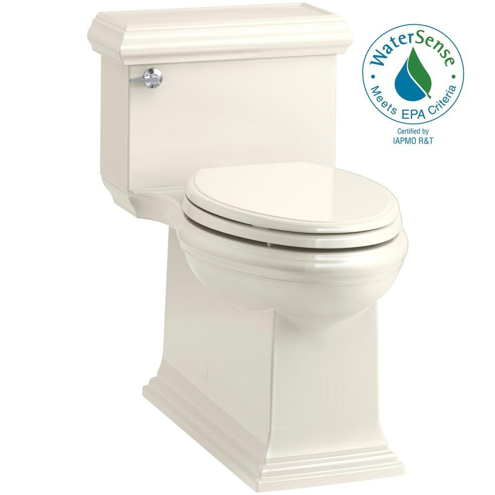 Memoirs Classic 1-Piece 1.28 GPF Single Flush Elongated Toilet in Biscuit