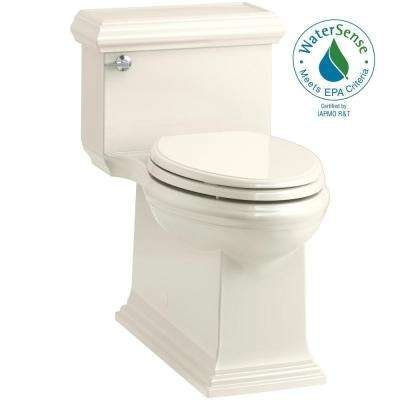 Memoirs Classic 1-Piece 1.28 GPF Single Flush Elongated Toilet in Biscuit, Seat Included