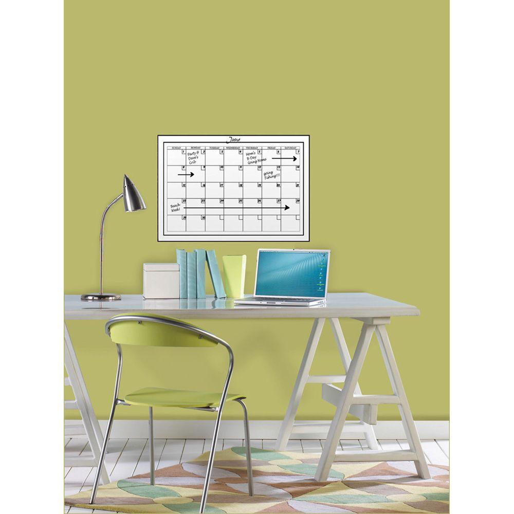 WallPOPs 17.5 in. x 24 in. Dry Erase Monthly Calendar Wall Decal ...