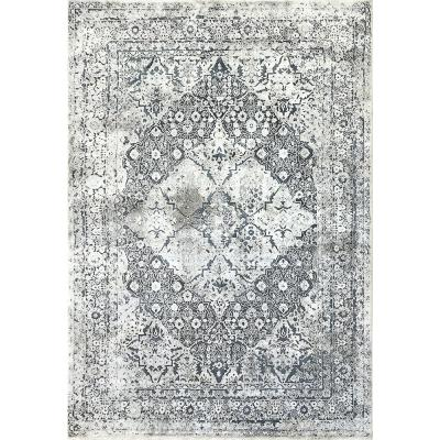 Torino Blue/Ivory 5 ft. 3 in. x 7 ft. 7 in. Contemporary Polyester Area Rug