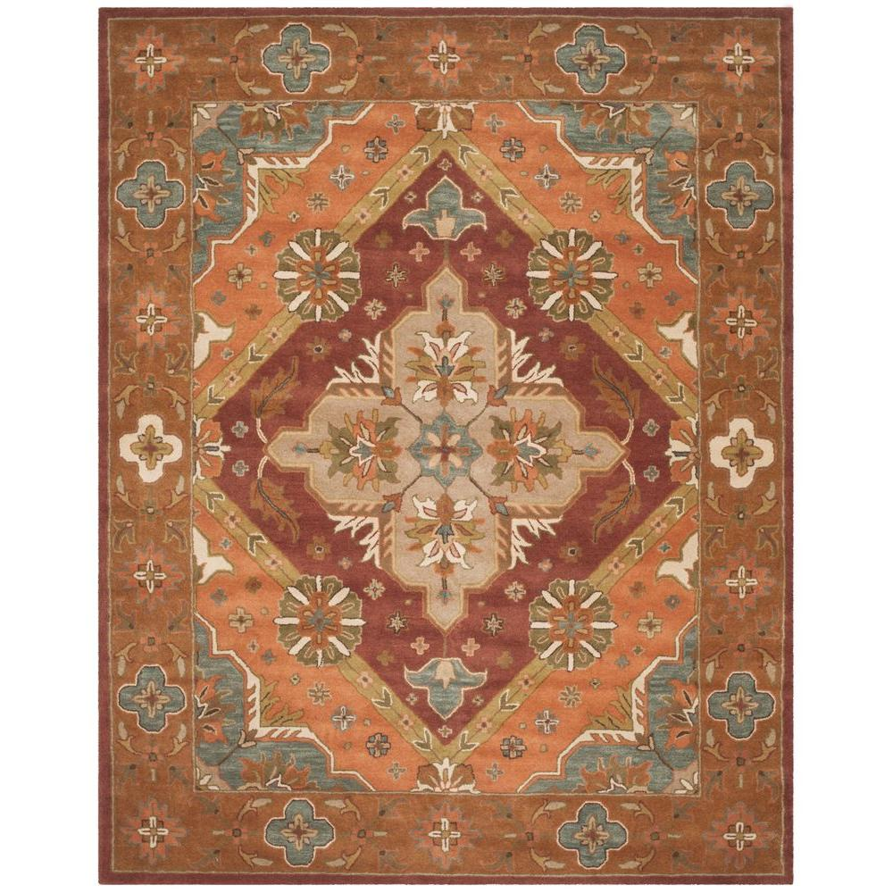 Safavieh Heritage Rust 8 ft. x 10 ft. Area Rug