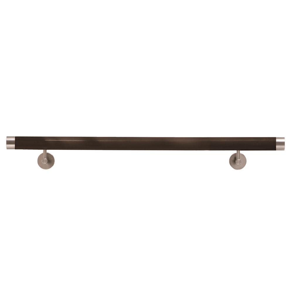 IAM Design Wood Inox 6 ft. 7 in. Wenge Wood Hand Rail Kit