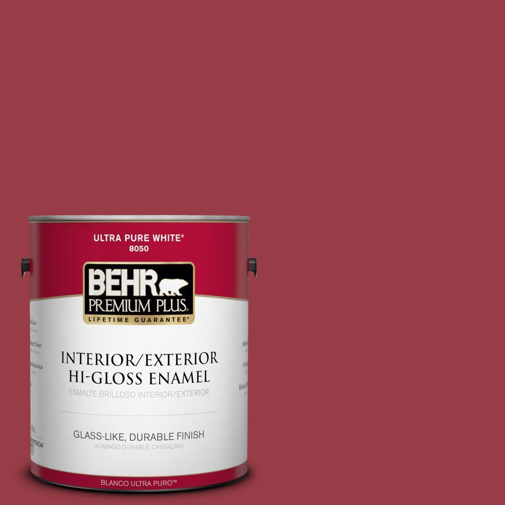 1-gal. #140D-7 Classic Cherry Hi-Gloss Enamel Interior/Exterior Paint