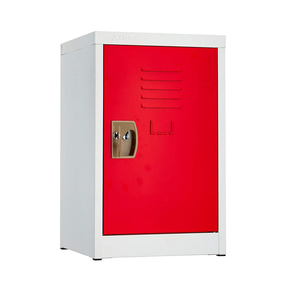 24 in. H x 15 in. W Steel Single Tier Locker in Red