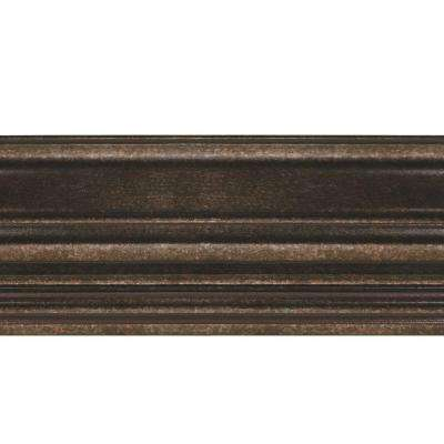 Classic 0.75 in. x 6.125 in. x 96 in. Wood Ceiling Crown Molding in Smoked Pewter