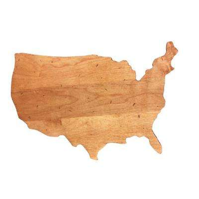 Novelty Maple USA Shaped Serving Board