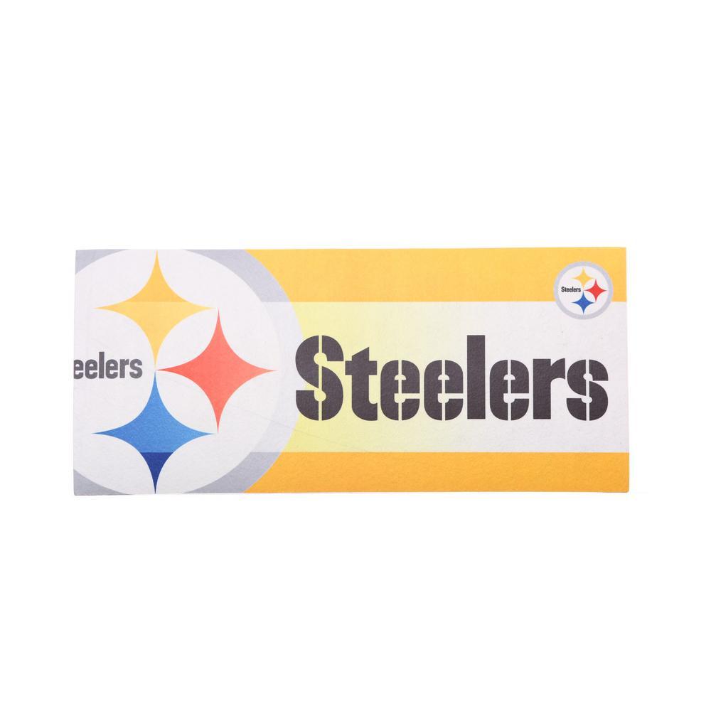 Pittsburgh Steelers 22 in. x 10 in. Decorative Insert Mat