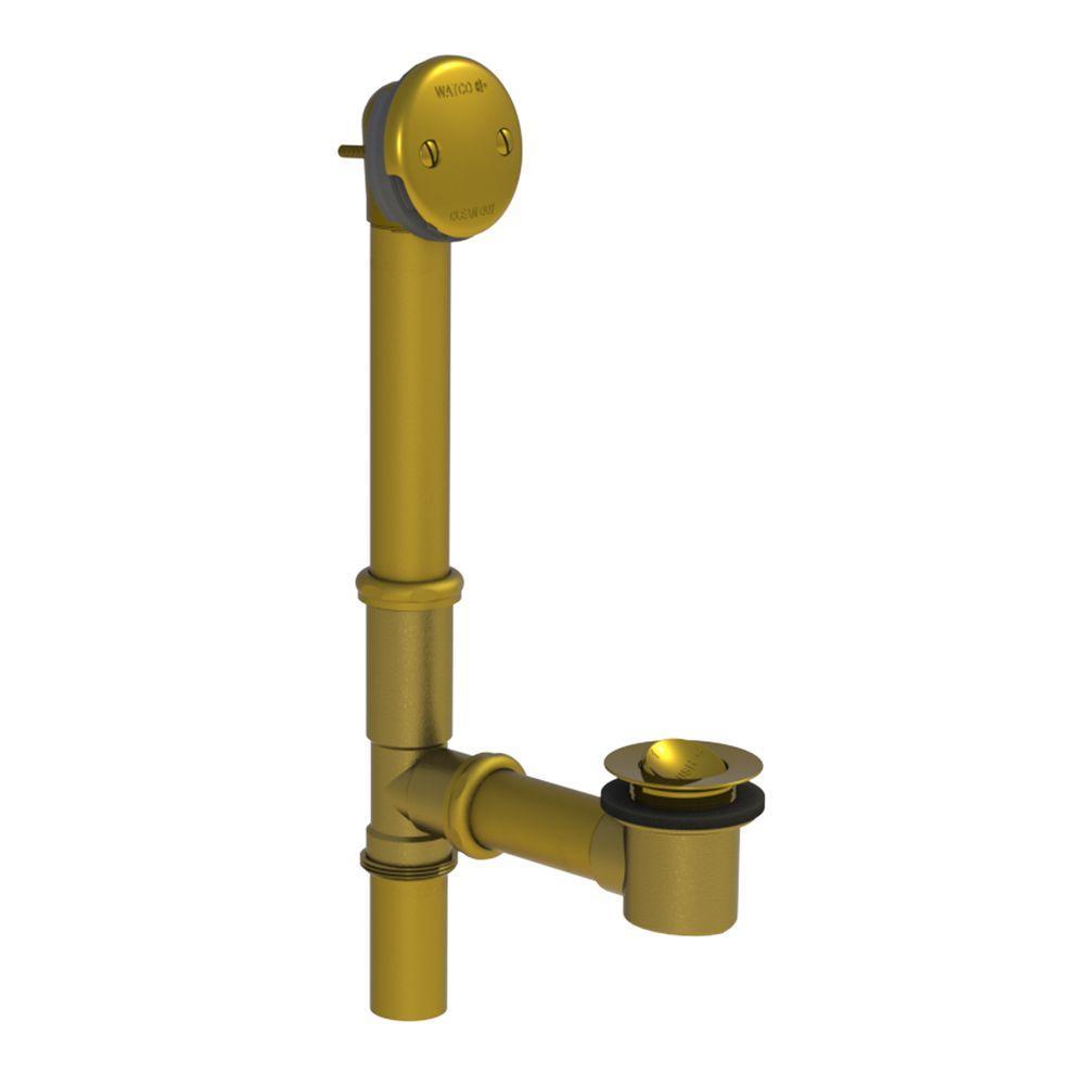 501 Series 16 in. Tubular Brass Bath Waste with PresFlo Bathtub