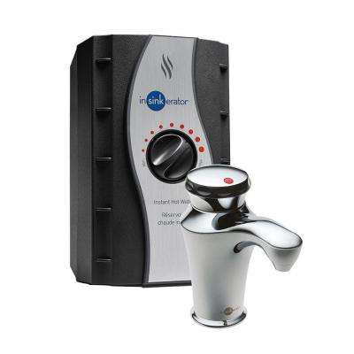 Invite H-Contour Single-Handle Instant Hot Water Dispenser System in Chrome